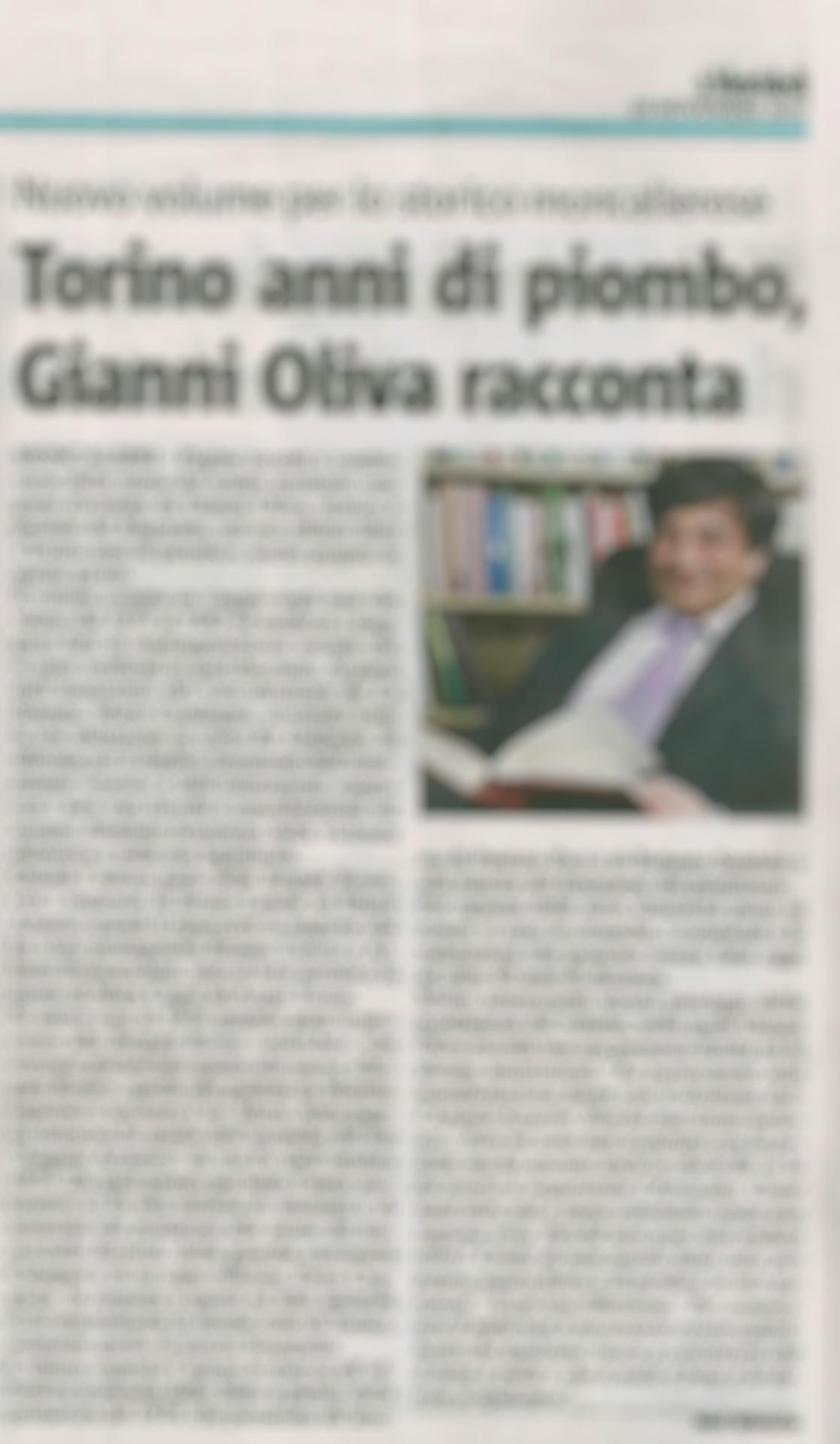 Torino anni di piombo su La Stampa e Il Mercoledì