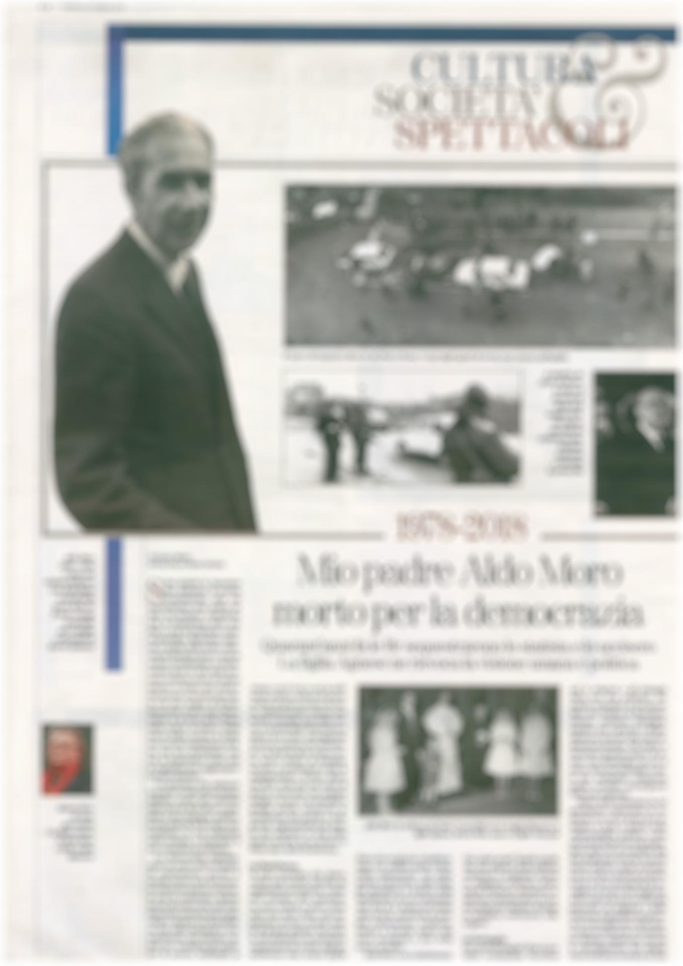 Il Caso Moro, Gianni Oliva su La Stampa del 25 Febbraio.