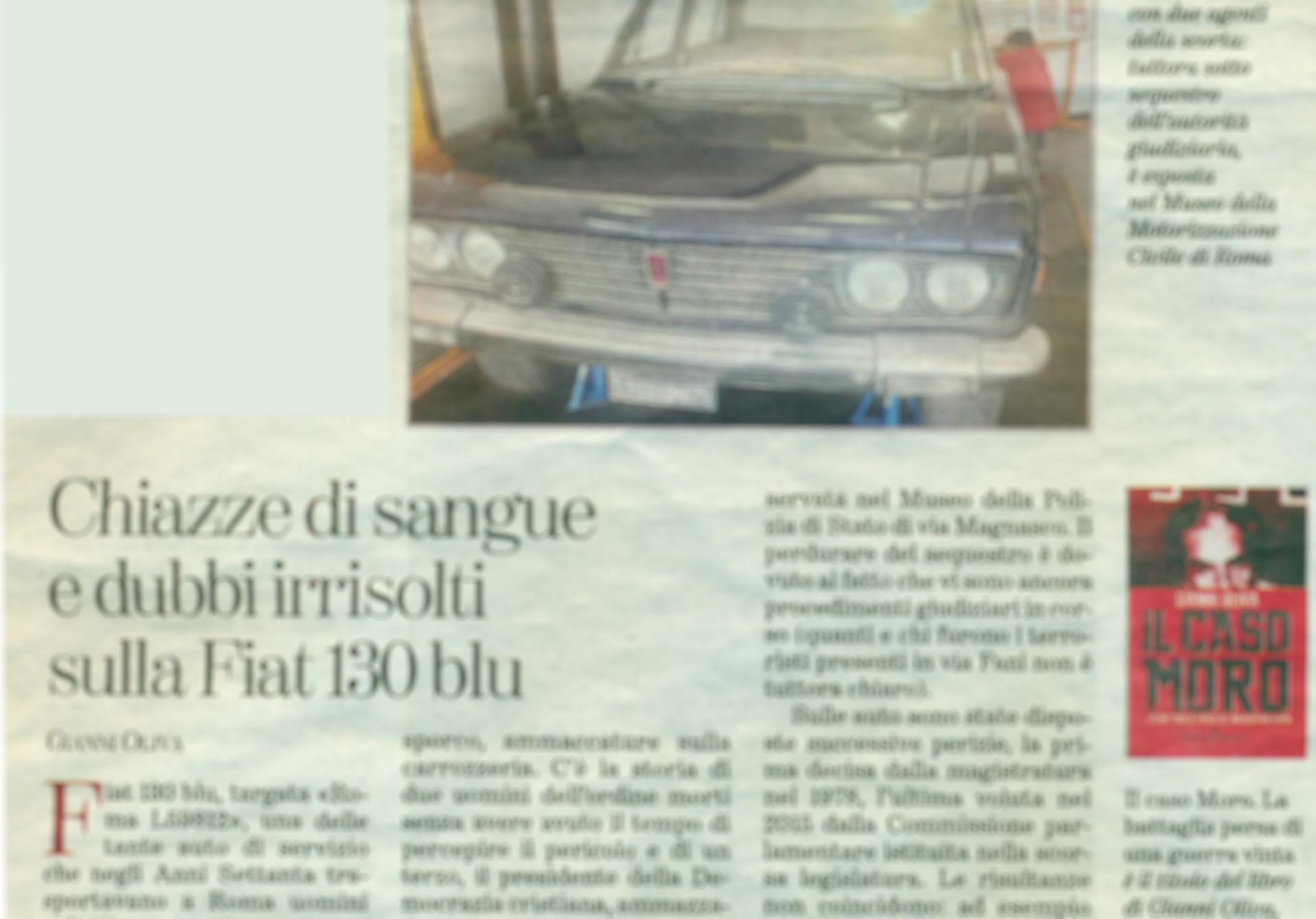"""Gianni Oliva ed """"Il Caso Moro"""" su La Stampa, Il Mattino e Torinosette"""